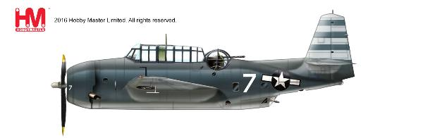 "TBM-3 Avenger ""Take Force 58"" , White 7 of VT-12, USS Randolph, ca. 1945 (1:72)"
