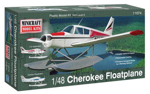 1/48 Scale Cherokee Float Plane - New Tooling