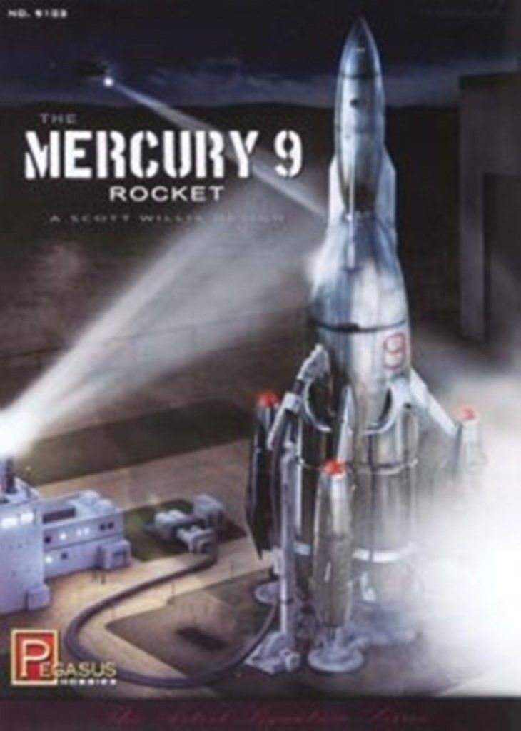 Mercury 9 Rocket Kit 1:350