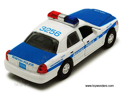 "Boston Police Car (5"" diecast model car, White and Blue)"