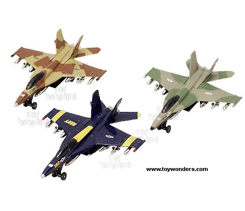 "Supersonic Fighter Airplanes (7.5"", Assorted Colors.)"