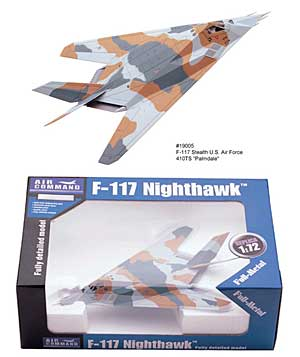 Sunstar Air Command F-117 1:72 Diecast Metal Airplane