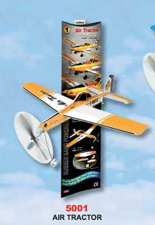 "Air Tractor Ag Plane - Giant Ruberband Powered Model - 18.9"" Wingspan"