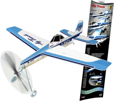 "Air Truck Ag Plane - Giant Ruberband Powered Model - 18.9"" Wingspan"