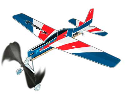 "Aerobatic Jet - Giant Ruberband Powered Model - 18"" Long"