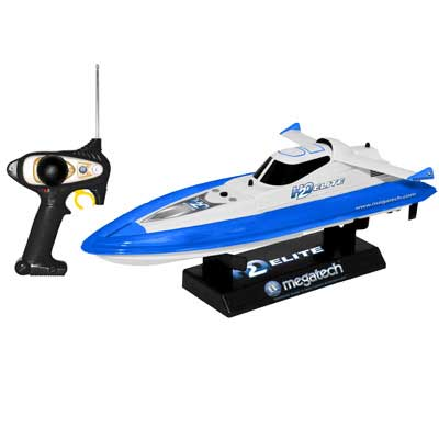 H2O Elite 2 Channel Electric Speedboat Blue