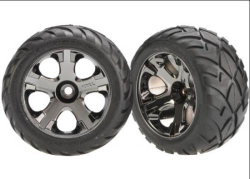 Anaconda TIres Pre-Glued On Black Chrome Nitro Front Wheels (pair)