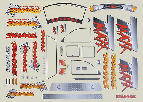 Decal Sheet T-Maxx