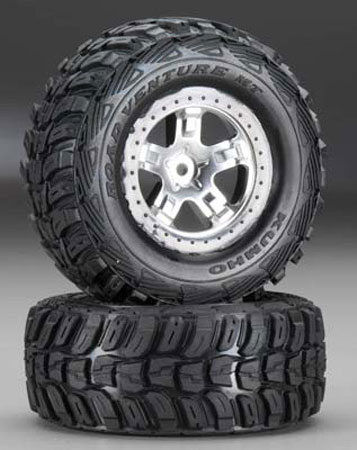 6870 Tire/5872X Wheel Mounted Slash 2WD Rear (2)