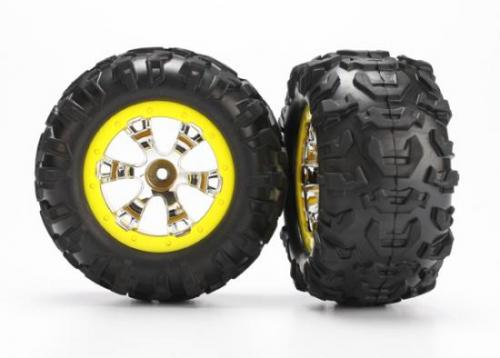 Tires And Wheels - Assembled (Geode Chrome - Yellow -Canyon At Tires)