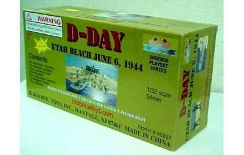 54mm D-Day Utah Beach Diorama Playset