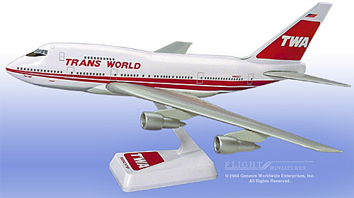 TWA 747SP Interim Colors (1:200)