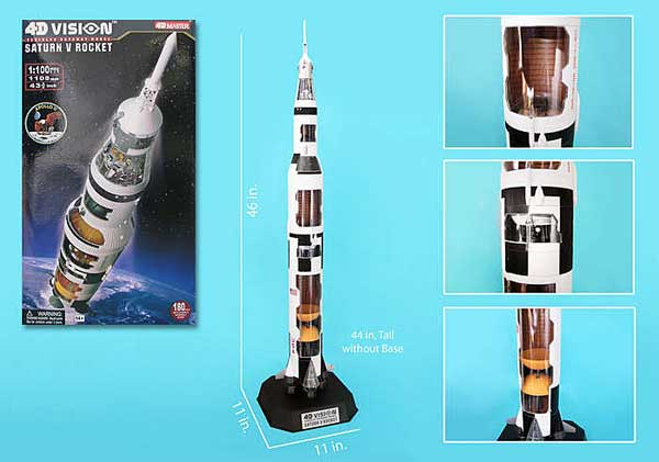 4D Vision Saturn V Cutaway Model