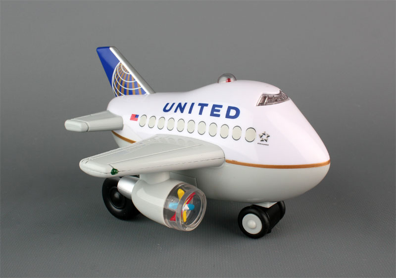 United Airlines (post Continental Merger) Bump & Go Airplane