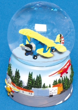 Airplane Water Globe
