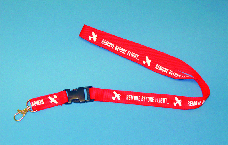 Remove Before Flight Lanyard Keychain