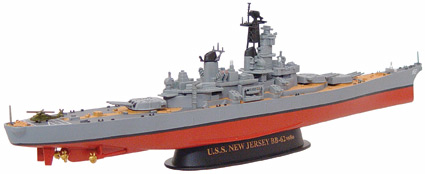 Battleship BB-62 USS New Jersey  (1:700)