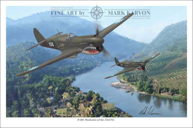 P-40 Warhawks of the 23rd FG (Fine Art Print)