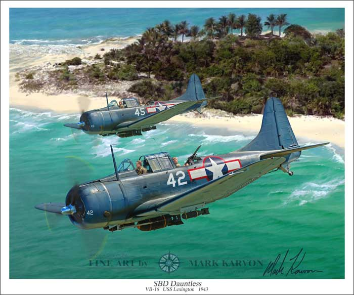 SBD Dauntless (Fine Art Print)