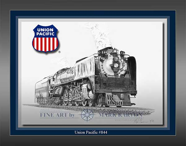 "Union Pacific ""Union Pacific #844"" (Pencil Print 11"" x 14"")"