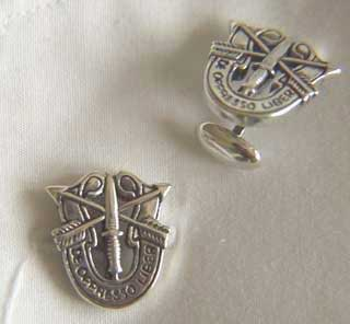 Special Forces Cuff Links Sterling Silver