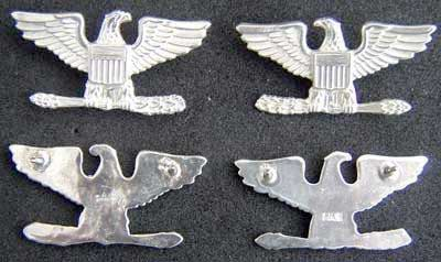 US Full Colonel Set IOH W-32 Sterling Colonel , Colonel Rank, Colonel Sterling