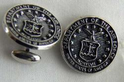 USAF Great Seal Sterling Silver Cuff Links