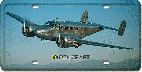 Twin Beechcraft License Plate