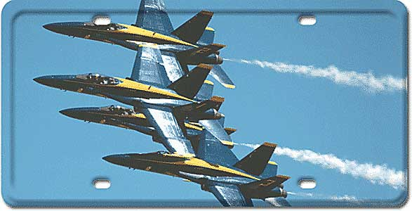 Blue Angels License Plate