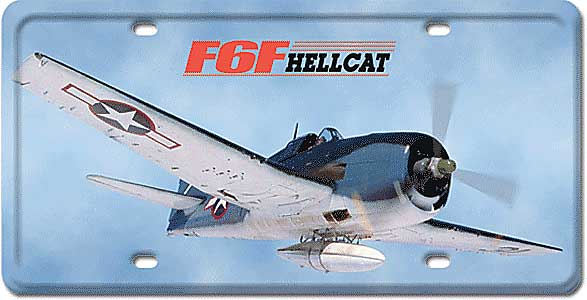 F6F Hellcat License Plate