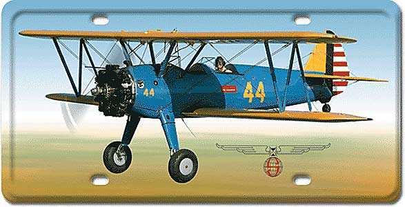 Stearman License Plate