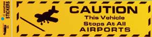 Caution Bumper Sticker