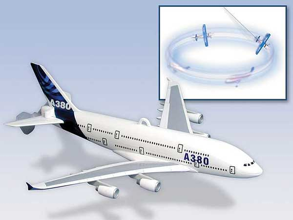 A380 Flying Toy On A String