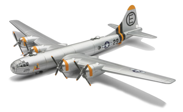 B-29 Superfortress, Silver (1:144) Easy Build Model Kit - IN-EZB29S