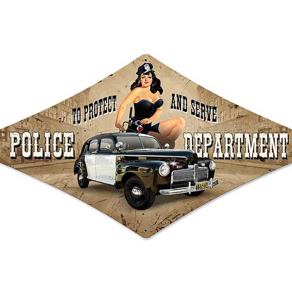Police Department Metal Sign