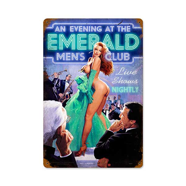 Emerald Evening Metal Sign