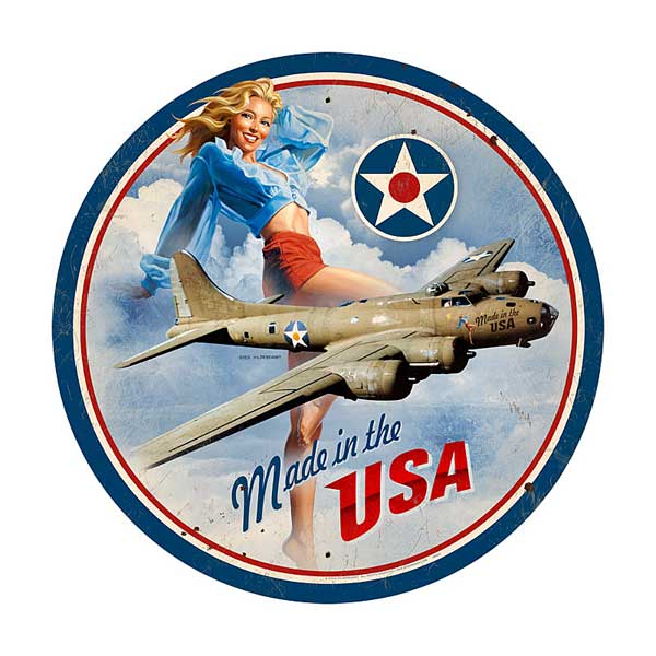 USA B17 Metal Sign