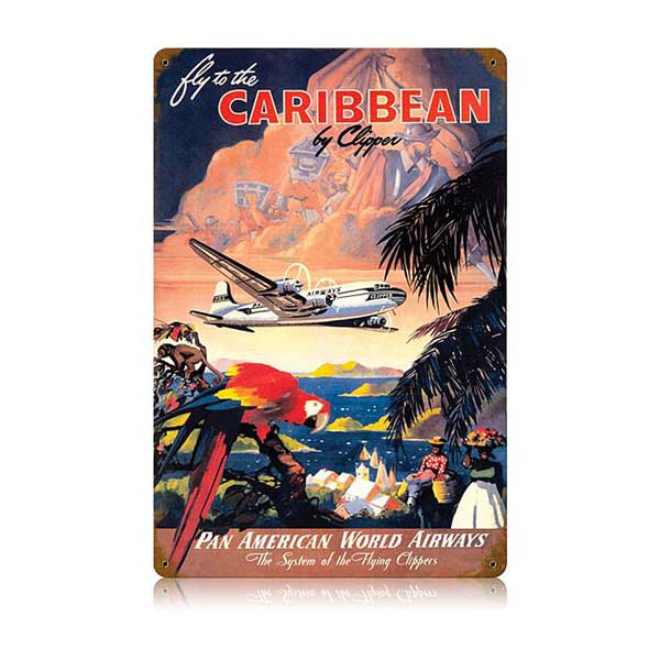 Caribbean Metal Sign