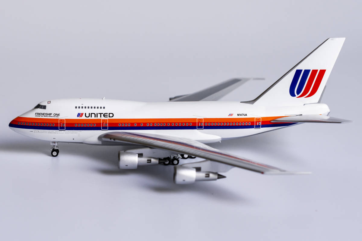 """United Airlines 747SP N147UA """"Saul Bass"""" livery; named """"Friendship One"""" (1:400)"""