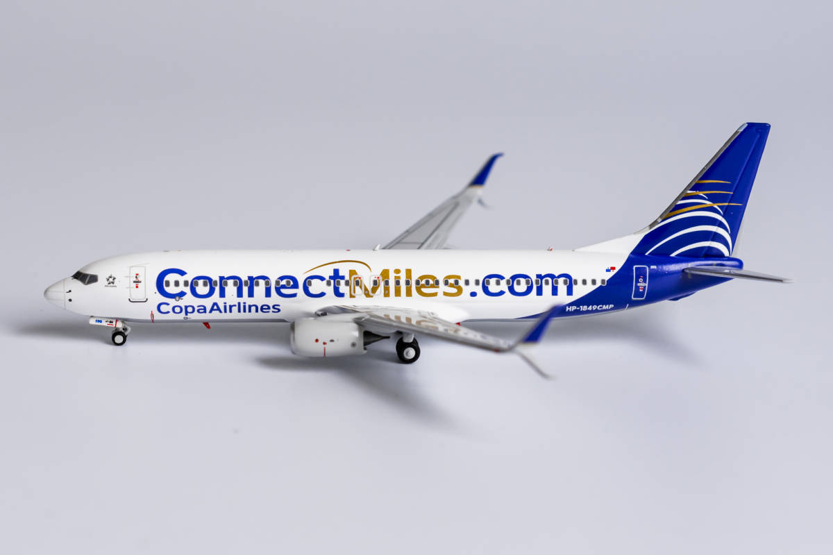 """Copa Airlines 737-800/w HP-1849CMP with scimitar winglets; """"ConnectMiles"""" livery (1:400)"""
