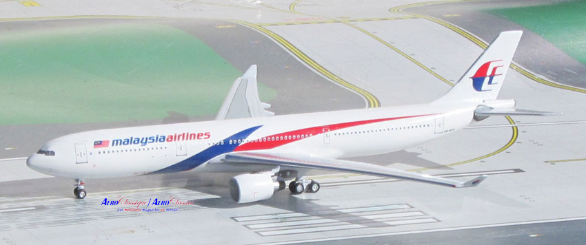 Malaysia A330-300 9M-MTK New Colors (1:400), AeroClassics Models Item Number ACMAS1116B