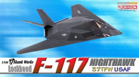 F-117 Nighthawk, USAF 37TFW (1:144), DragonWings 1:144 scale Diecast Warbirds Item Number DRW51019