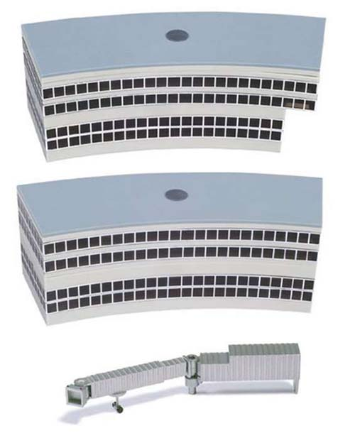 2 Round Departure Halls (1:500), Herpa 1:500 Scale Diecast Airliners Item Number HE519823