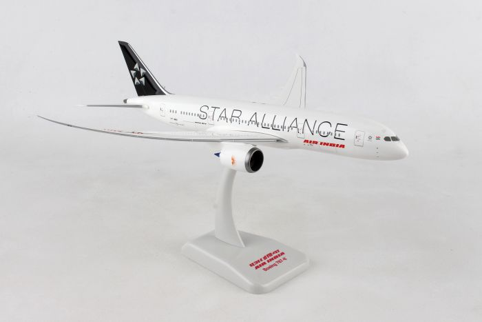 Air India 787-8  Star Alliance With Gear & Stand (1:200) by Hogan Wings Collectible Airliner Models item number: HG10277G