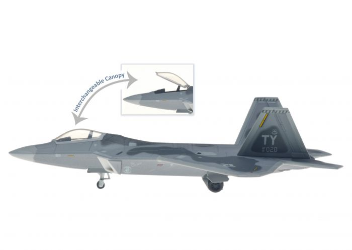 F-22A USAF 43rd FS 325th FW Tyndall AFB TC020 (1:200) by Hogan Wings Military Airplane Models item number: HG60449