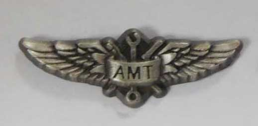 Lapel Pin w/ AMT Logo, Wing Aero Item Number AMT-WING