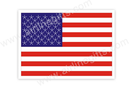 American Flag Patch (Iron On), ACI Aviation Jewelry and Bagtem Number