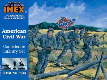 Confederate Infantry (1:72), IMEX Item Number IMX506