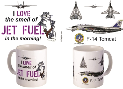"F-14 Tomcat ""I Love the smell of Jet Fuel"" Coffee Mug, Pilotwear Item Number MUG417M"