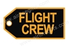 Flight Crew (Gold) Bag Tag TAG207, ACI Aviation Jewelry and Bag Tags Item Number TAG207